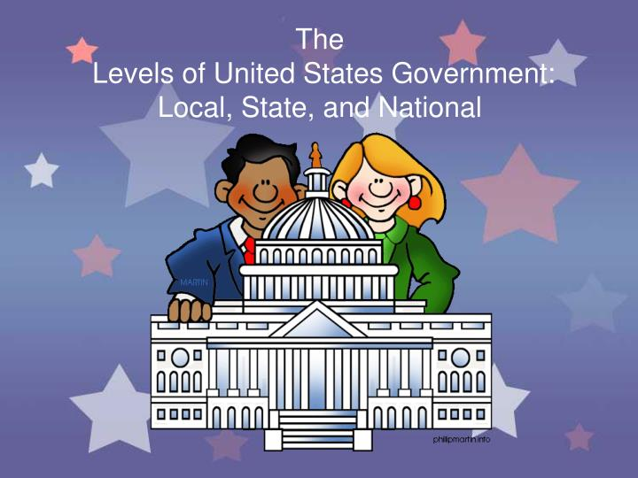 The levels of united states government local state and national