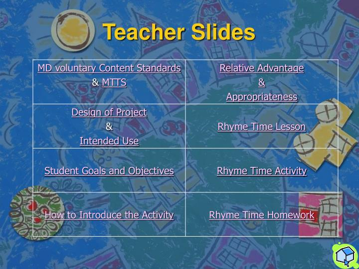 Teacher slides