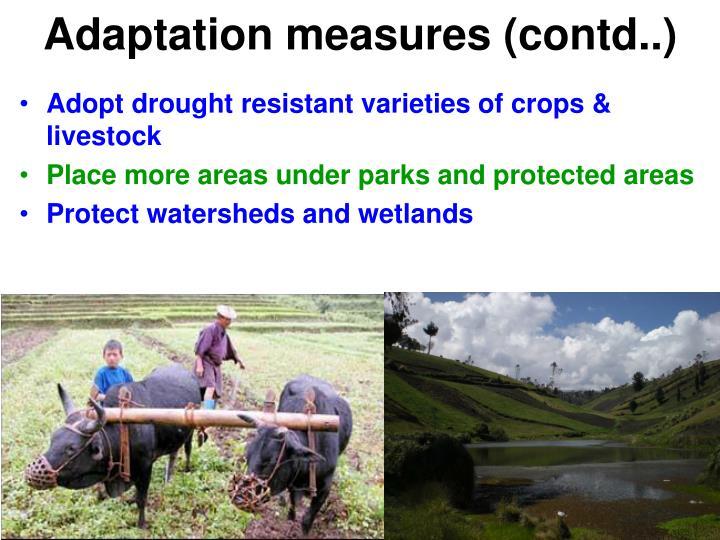 Adaptation measures (contd..)