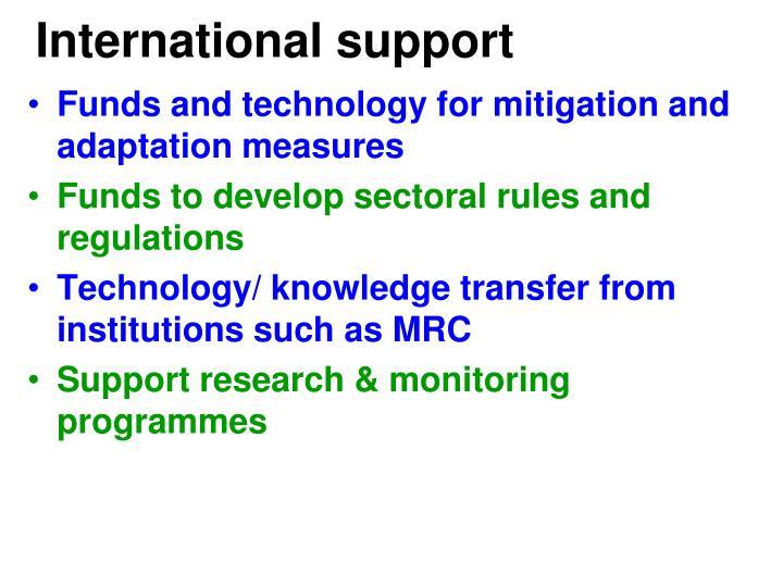 International support