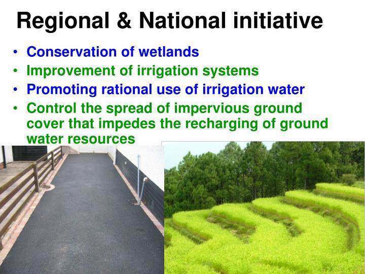 Regional & National initiative