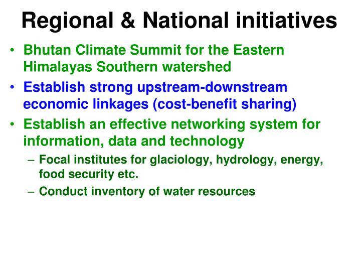 Regional & National initiatives