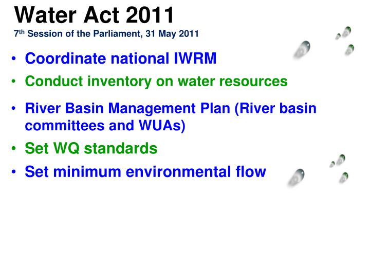 Water Act 2011