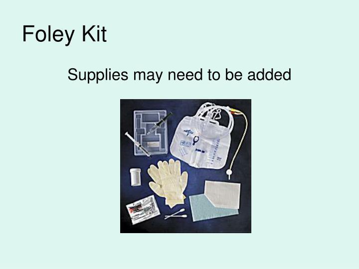 Foley Kit