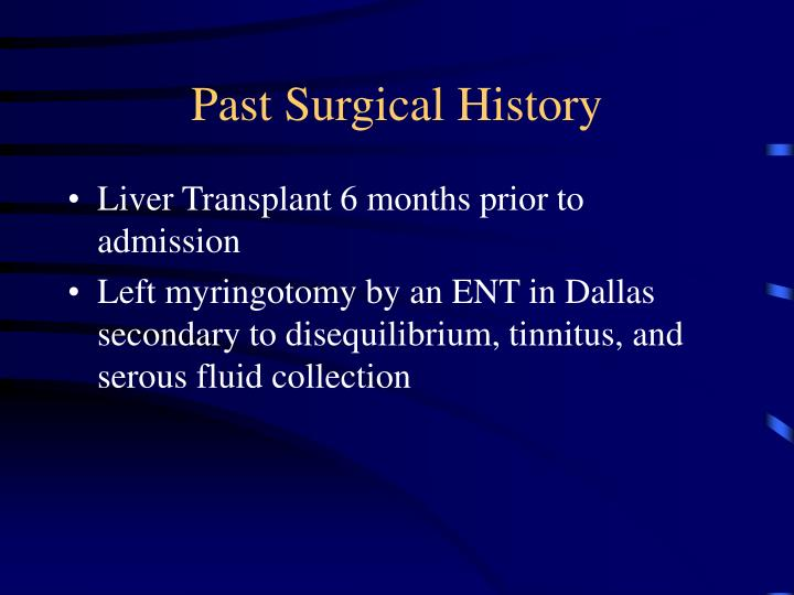 Past Surgical History