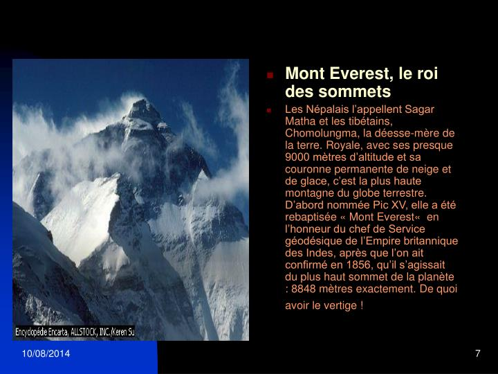 Mont Everest, le roi des sommets