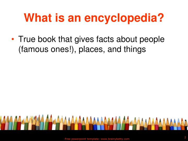 What is an encyclopedia