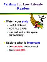 writing for low literate readers1