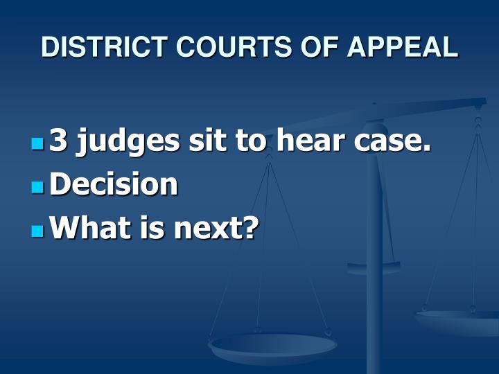 DISTRICT COURTS OF APPEAL