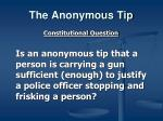 the anonymous tip2