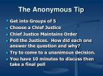the anonymous tip6