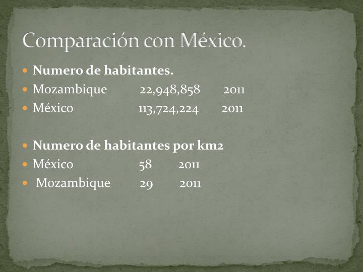 Comparación con México.