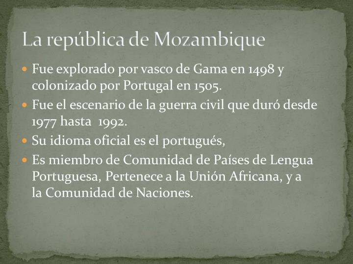 La república de Mozambique