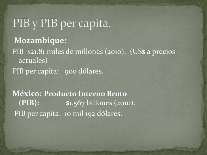 PIB y PIB per