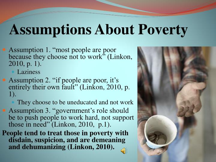 Assumptions About Poverty