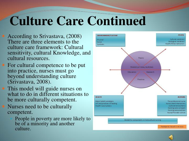 Culture Care Continued