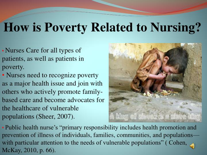 How is Poverty Related to Nursing?