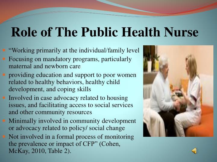 Role of The Public Health Nurse