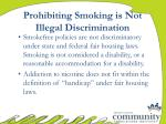 prohibiting smoking is not illegal discrimination