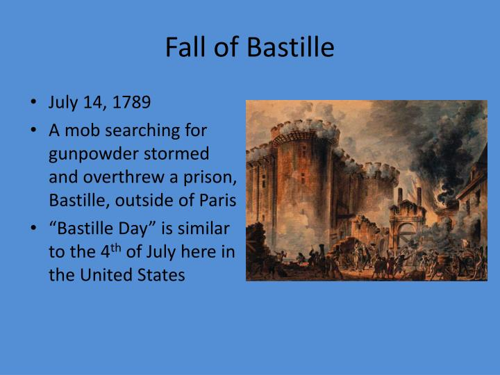 the fall of the bastille Contemporray newspaper account of the fall of the bastille in july 1789.