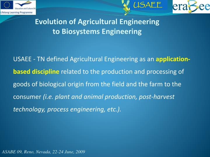 Evolution of Agricultural Engineering