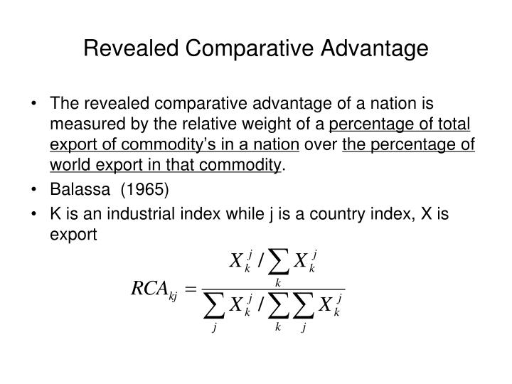 Revealed Comparative Advantage