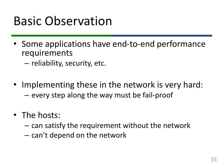 Basic Observation