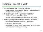 example speech voip