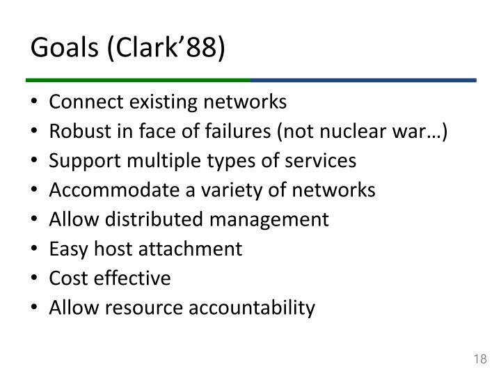 Goals (Clark'88)