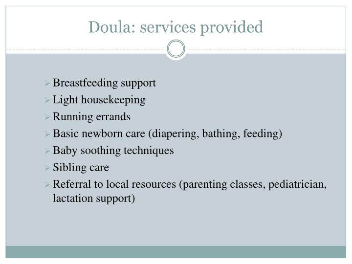 Doula: services provided