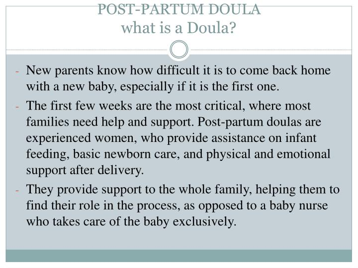 Post partum doula what is a doula
