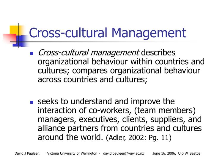 cros cultural management Cross-cultural management in cross-cultural management in practice cross-cultural management in practice culture and negotiated meanings edited by.