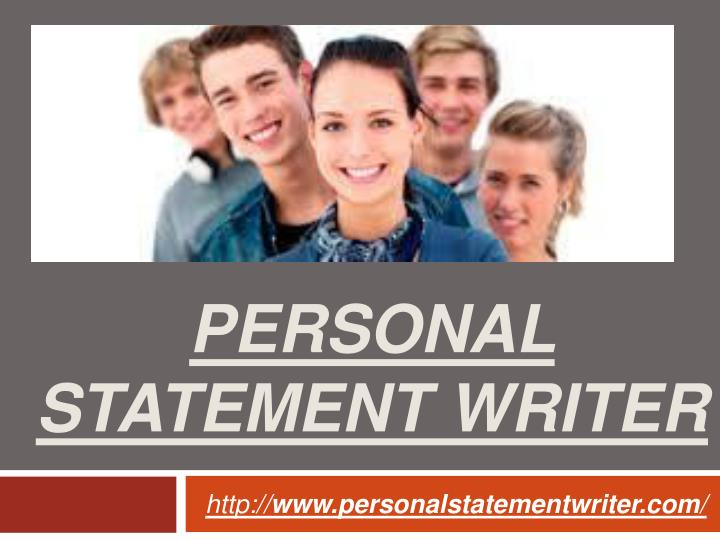 Personal statement writer
