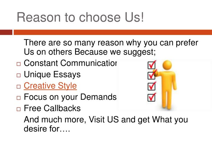 Reason to choose Us!