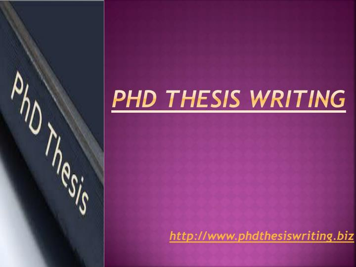 Presentation Phd Thesis