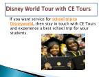 disney world tour with ce tours4