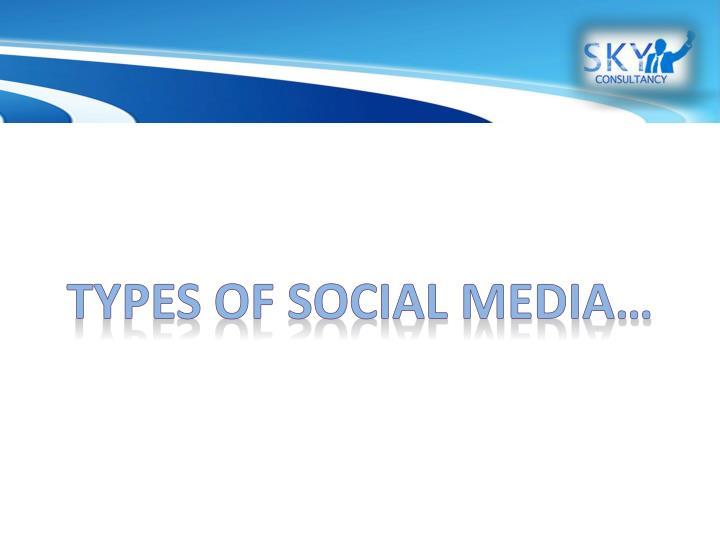 Types of social media…