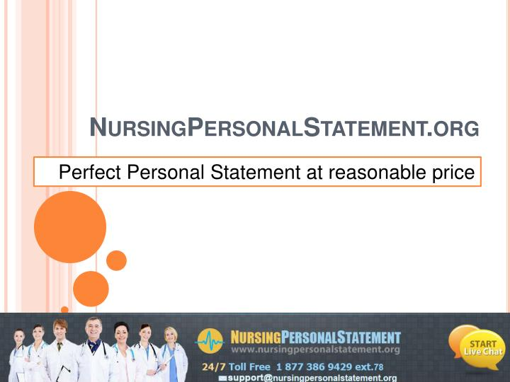 Perfect Personal Statement at reasonable price