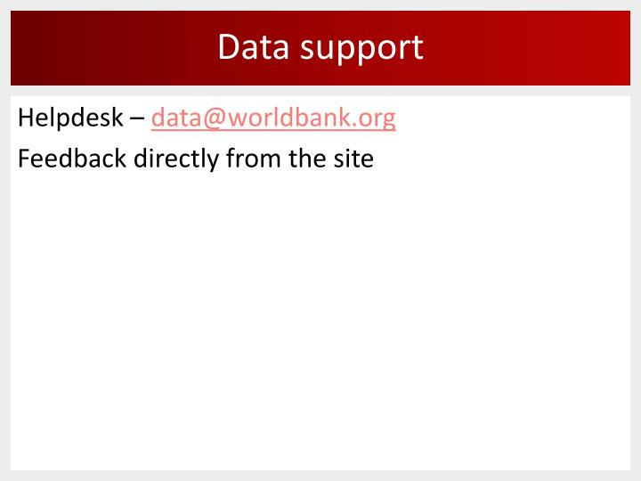 Data support