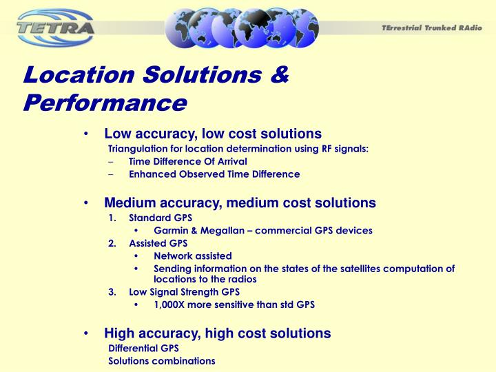 Location Solutions & Performance