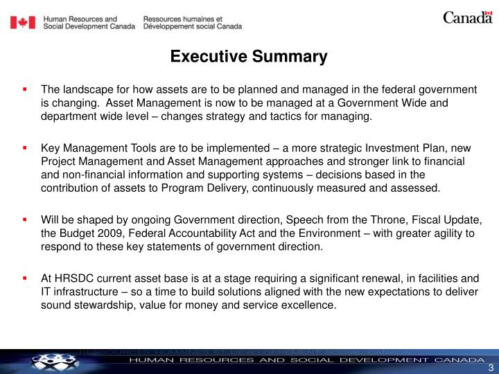 The landscape for how assets are to be planned and managed in the federal government is changing.