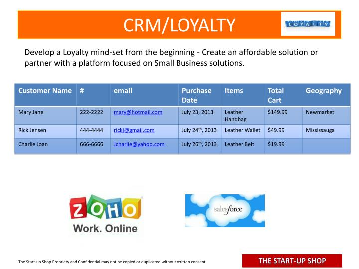 CRM/LOYALTY