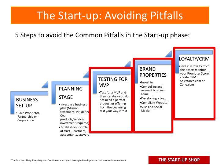 The Start-up: Avoiding Pitfalls