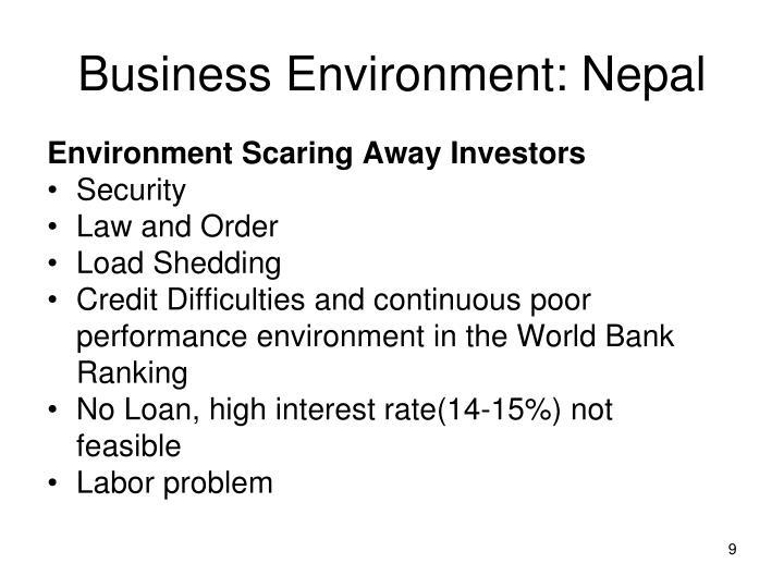 Business Environment: Nepal