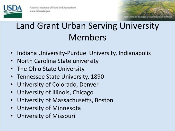 Land Grant Urban Serving University Members