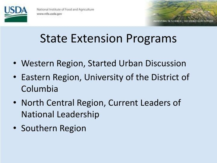 State Extension Programs