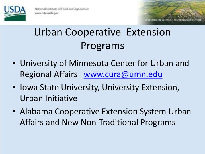 Urban Cooperative  Extension Programs
