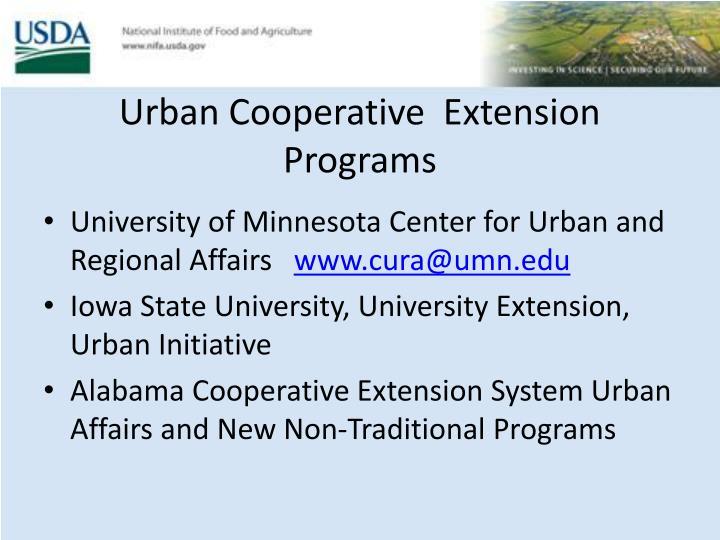 Urban Cooperative  Extension Programs