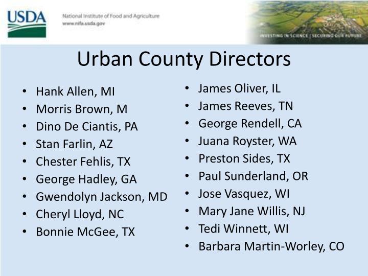 Urban County Directors