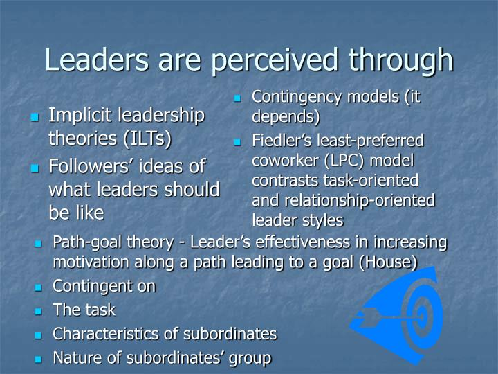 Leaders are perceived through